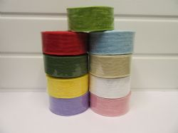 * 2 metres or 10 metre Roll 25mm Vintage Slub Ribbon Cotton Net Bouncle 25 mm